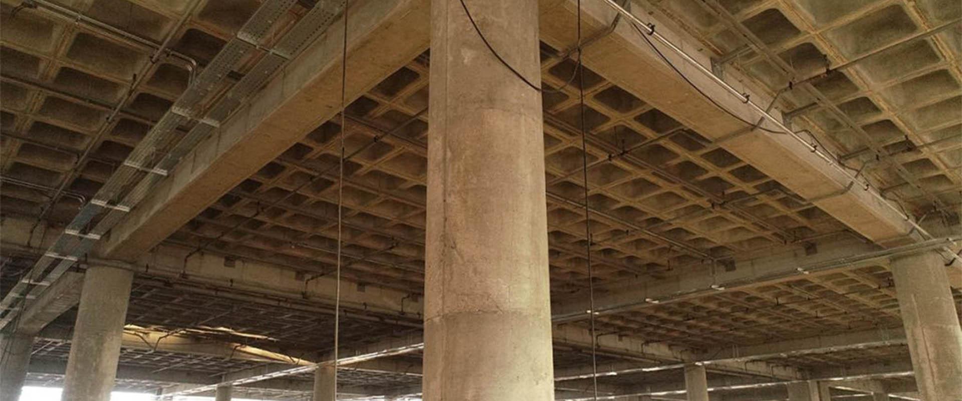 مزایای اسکلت فلزی سقف وافل