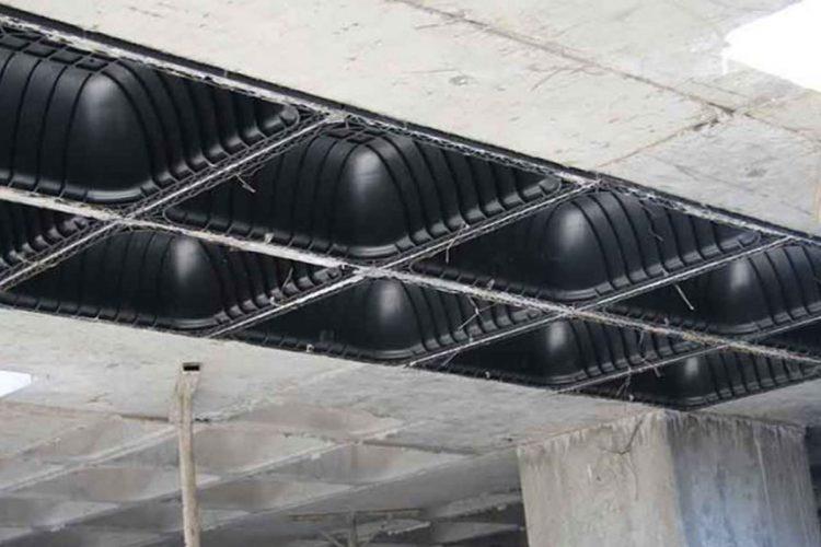 بررسی انواع نمای ساختمان در سازه سقف وافل
