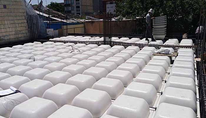 پروژه اجرایی سقف وافل خرداد سنندج