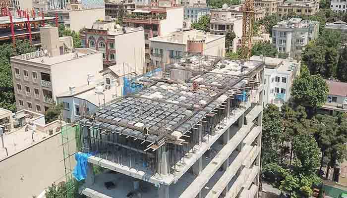 پروژه اجرایی سقف وافل خورشید تهران2