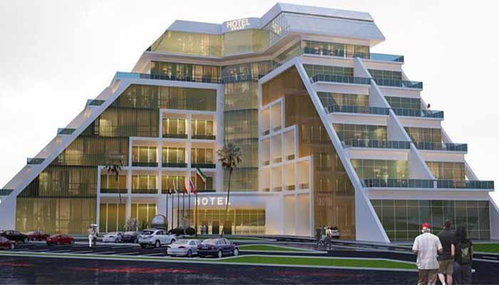 پروژه اجرایی سقف وافل هتل آزادی اردبیل