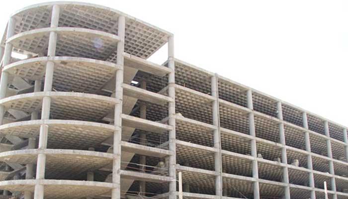 پروژه اجرایی سقف وافل پارکینگ طبقاتی چیتگر