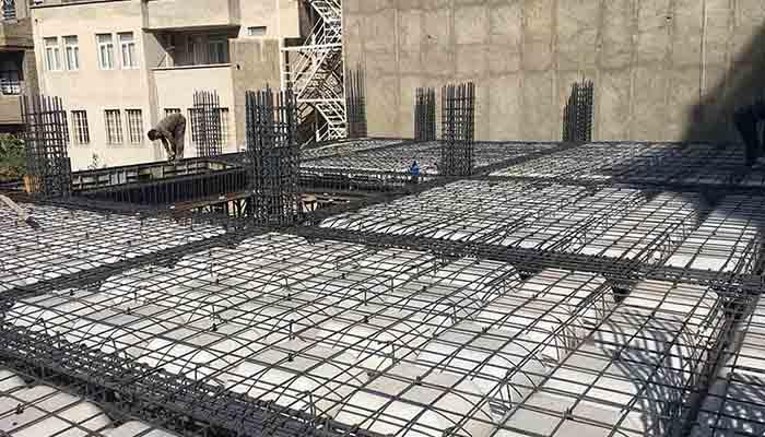 پروژه اجرایی سقف وافل کامران ارومیه