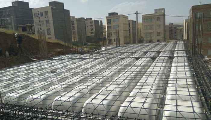 پروژه اجرایی سقف وافل کیمیا سنندج