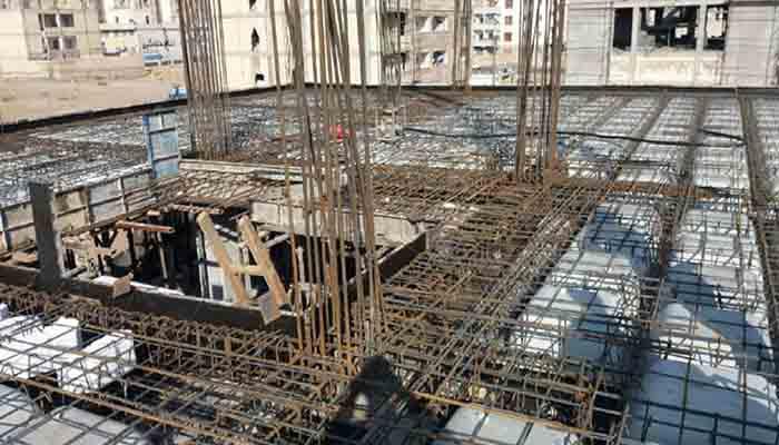 پروژه اجرایی سقف وافل گلها ساوه