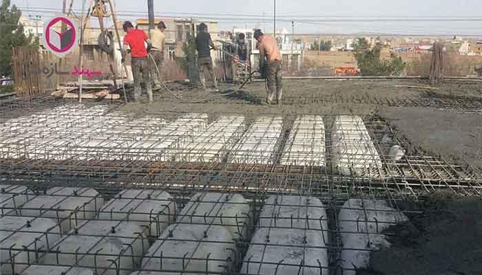 پروژه تجاری سقف وافل تنین