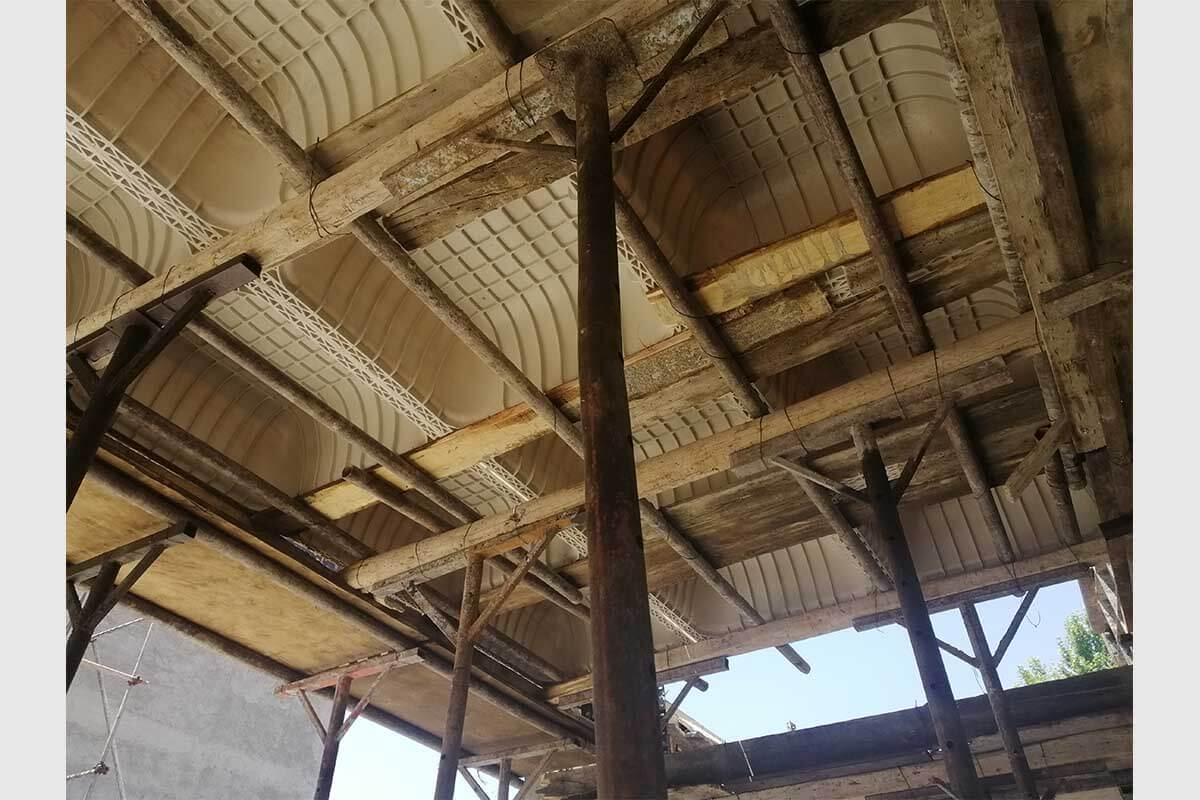 پروژه اجرایی سقف وافل مرکز خرید ارم