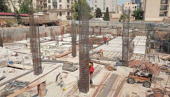 پروژه اجرایی سقف وافل برج تارا