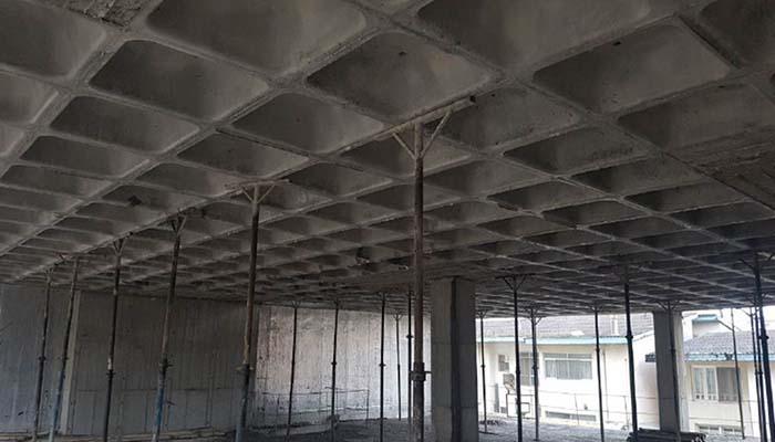 پروژه اجرایی سقف وافل 4242 آمل