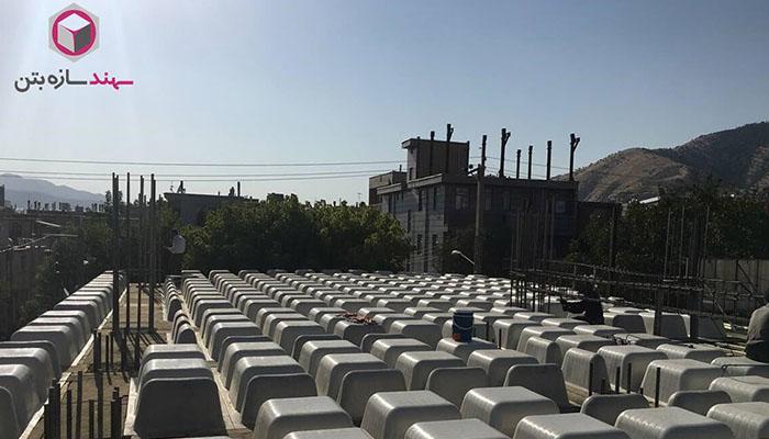 پروژه اجرایی سقف وافل مسجد مریوان